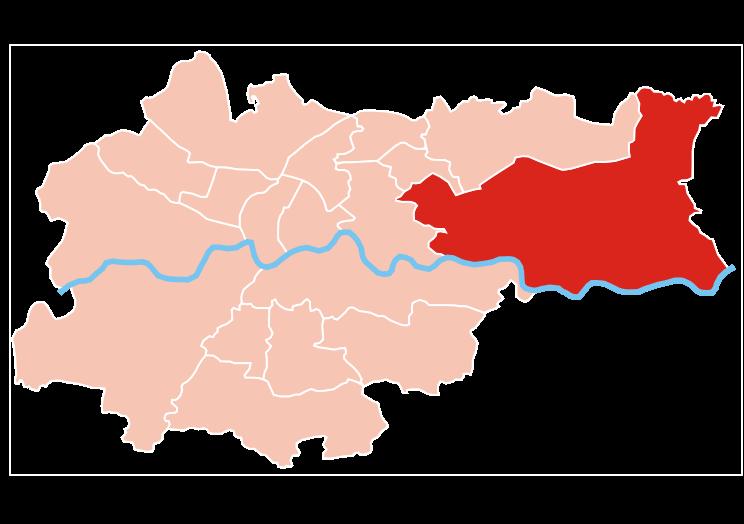 Położenie Nowej Huty na tle Krakowa / źródło: http://pl.wikipedia.org/wiki/Plik:Krak%C3%B3w_dzielnica_XVIII_Nowa_Huta.svg