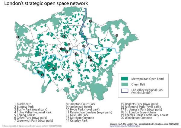 Londyński zielony pierścień, źródło: http://www.london.gov.uk/thelondonplan/images/maps-diagrams/jpg/map-3d-3.jpg
