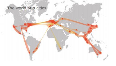 Miasta alfa (dane z 2010 r.), źródło: http://www.lboro.ac.uk/gawc/visual/globalcities2010.pdf