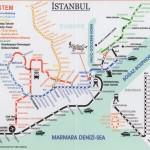 Schemat komunikacyjny kolei, źródło: http://www.greecetravel.com/turkey/istanbul/maps/