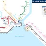 Schemat komunikacyjny metra, źródło:http://www.seacitymaps.com/metro_map/istanbul_metro_map_1.htm
