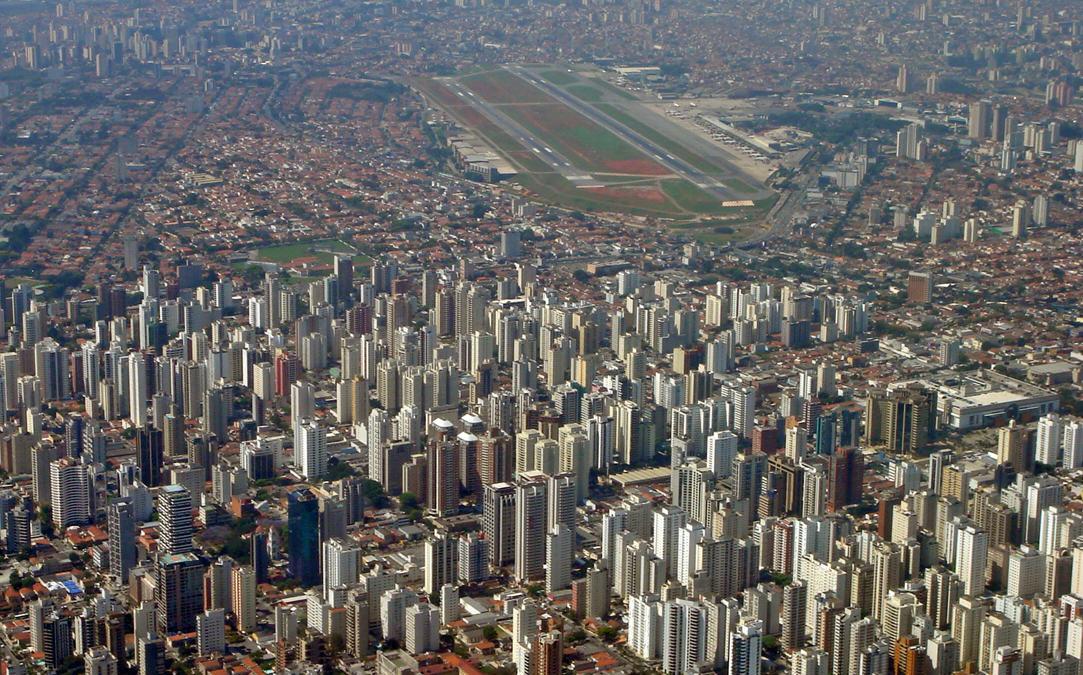 São Paulo city and Congonhas airport