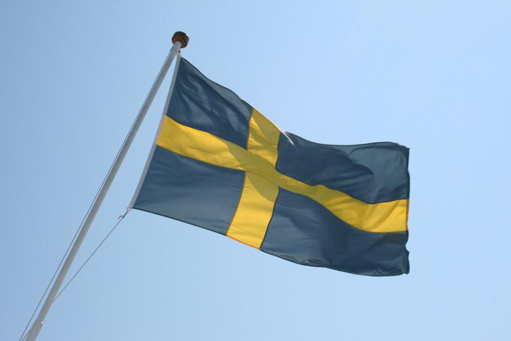 [Foto 1] Flaga Szwecji - foto własne