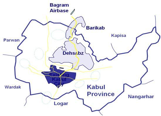 Lokalizacja nowego Kabulu, źródło: http://www.dcda.gov.af/