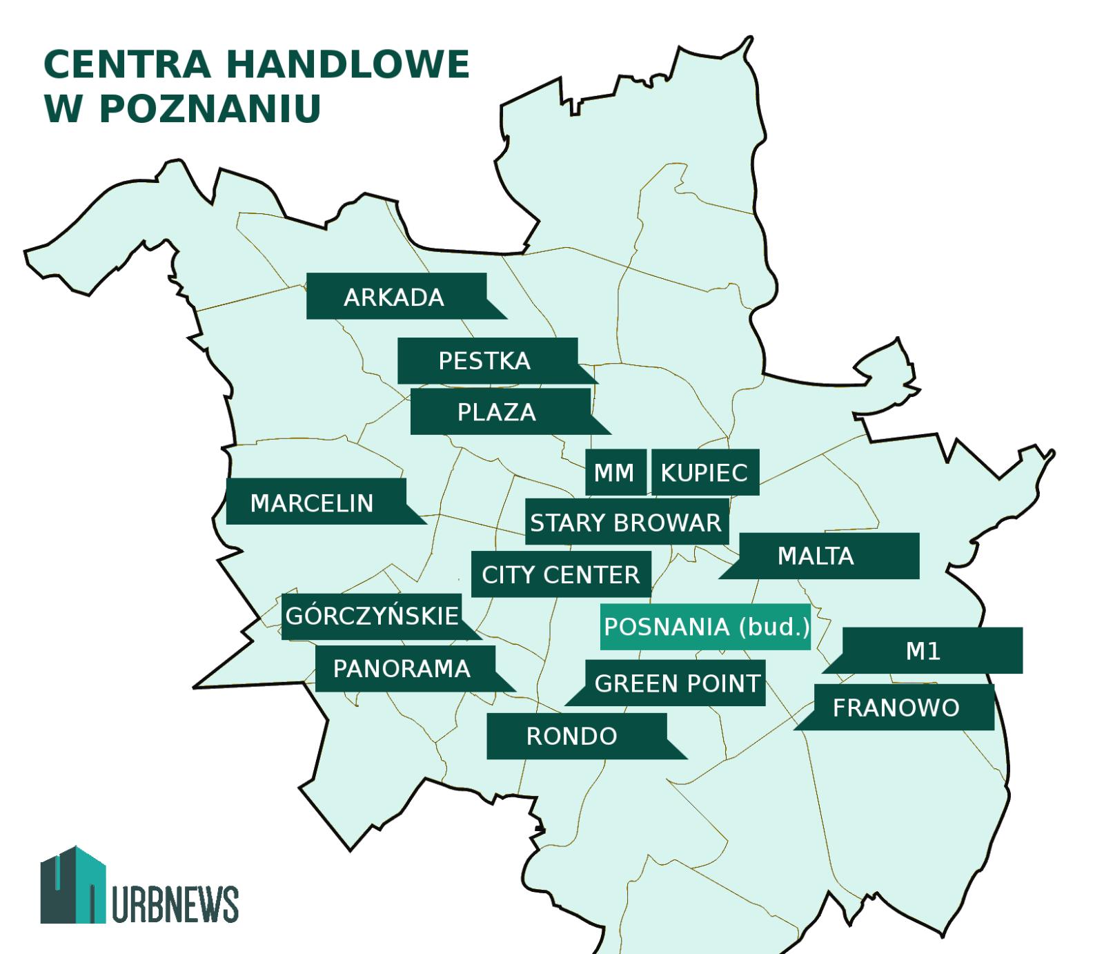 Poznań. Centra handlowe w Poznaniu. Autor: W.Wojtowicz / urbnews.pl
