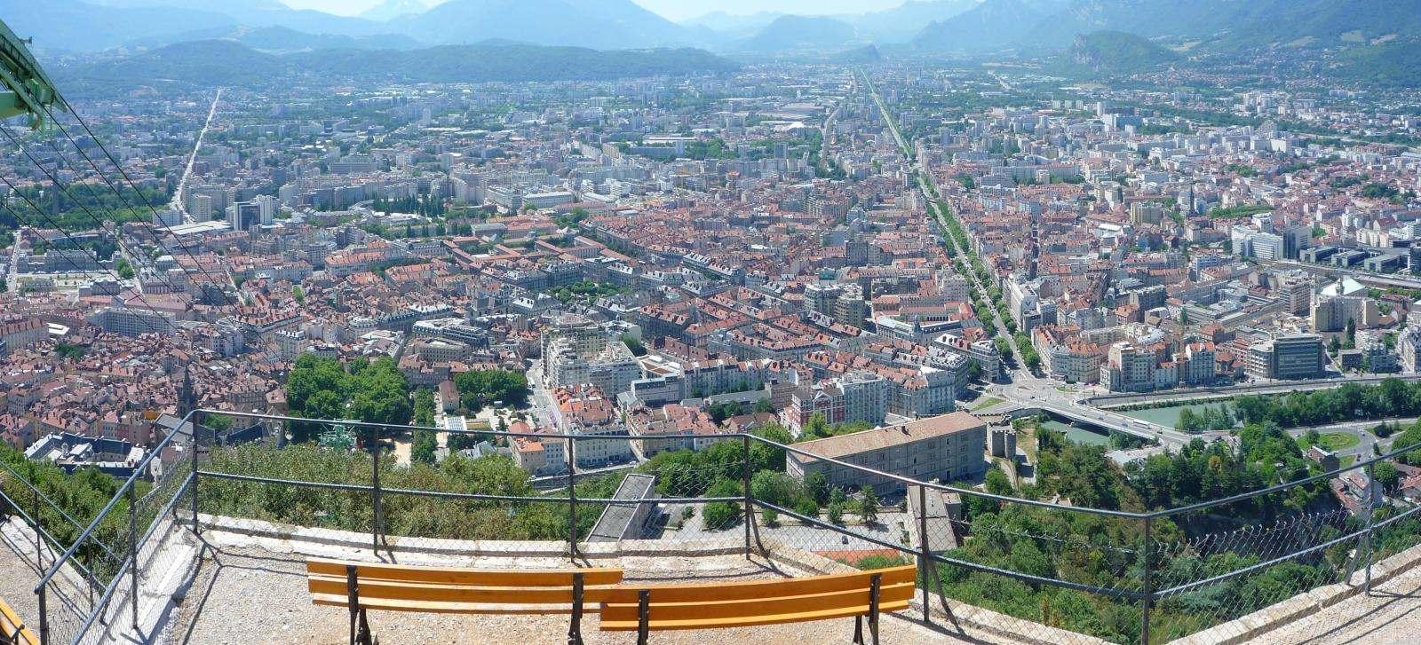 Grenoble from Bastille