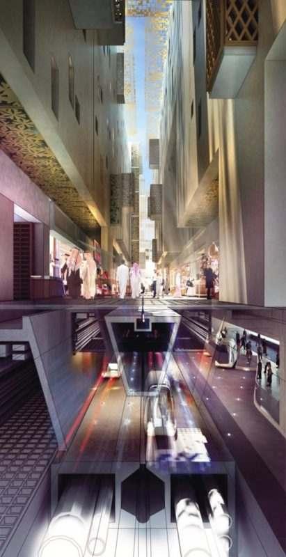 Wizualizacja wizji miasta. Źródło: foster+partners