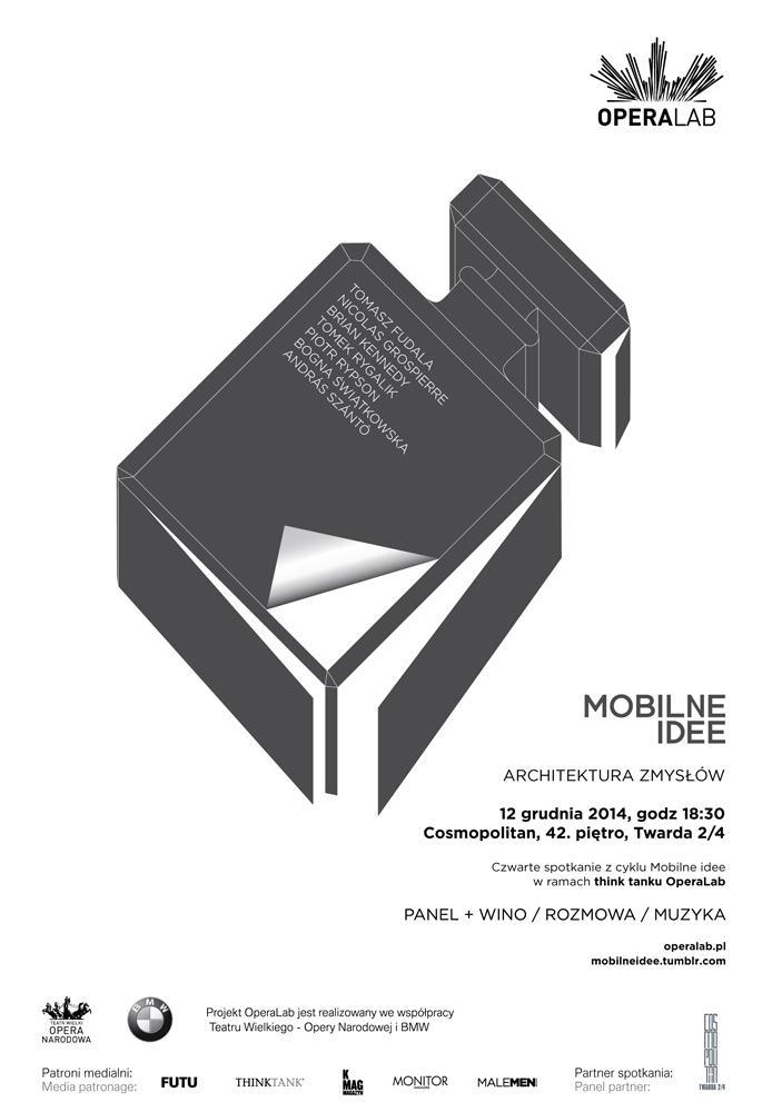 Mobilne idee - Architektura zmysłów - plakat