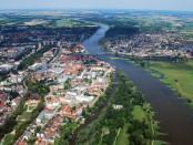 Słubice i Frankfurt nad Odrą; autor: Willi Wallroth; licencja: CC0 1.0