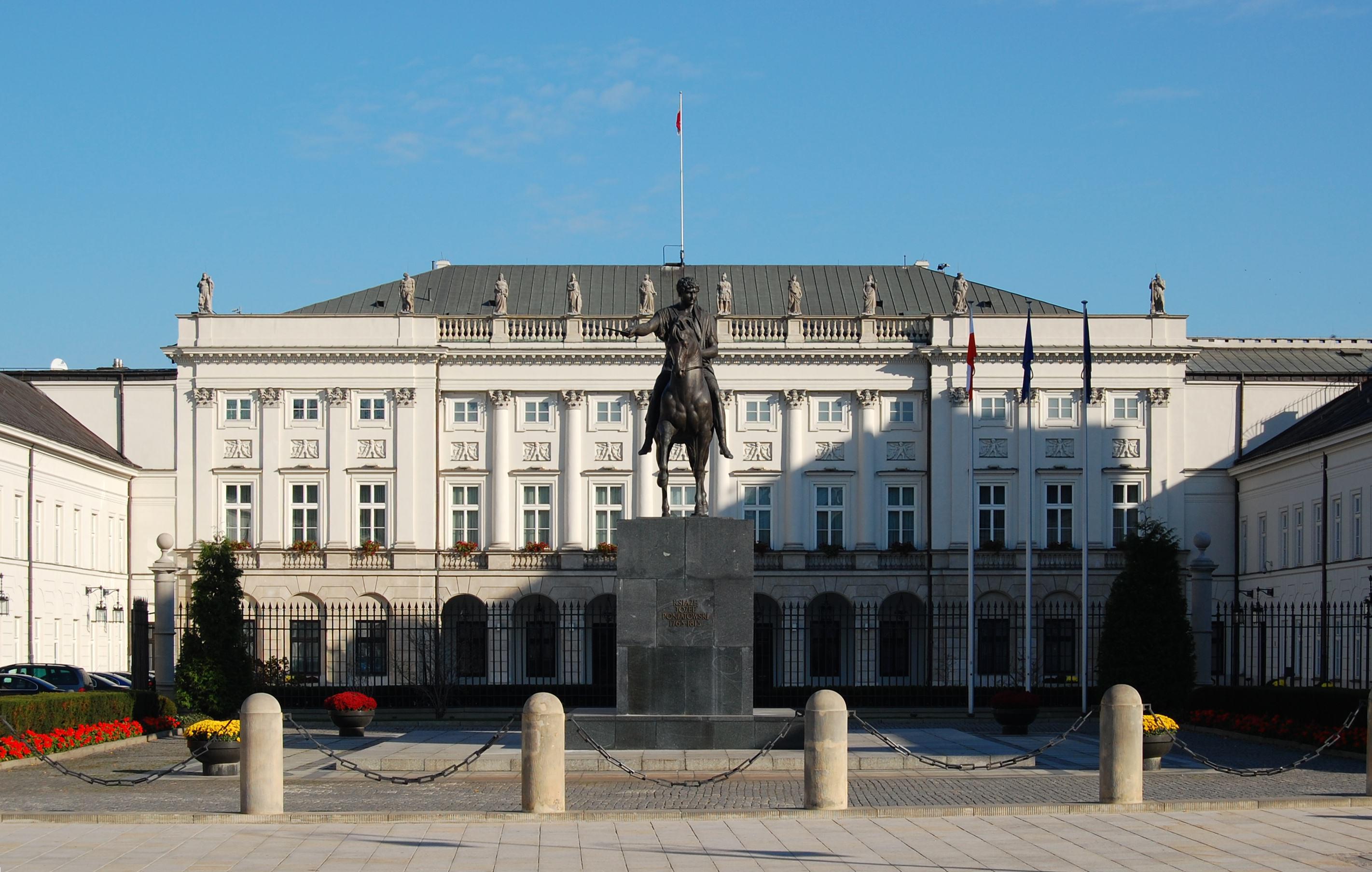 Warszawa Pałac Prezydencki prezydent
