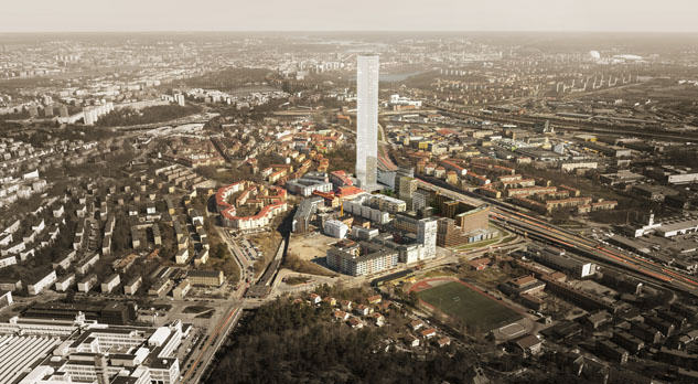 Tellus Tower; autor: White Arkitekter