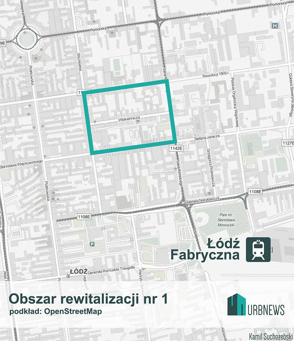 ŁódźRewitalizacjaObszar1
