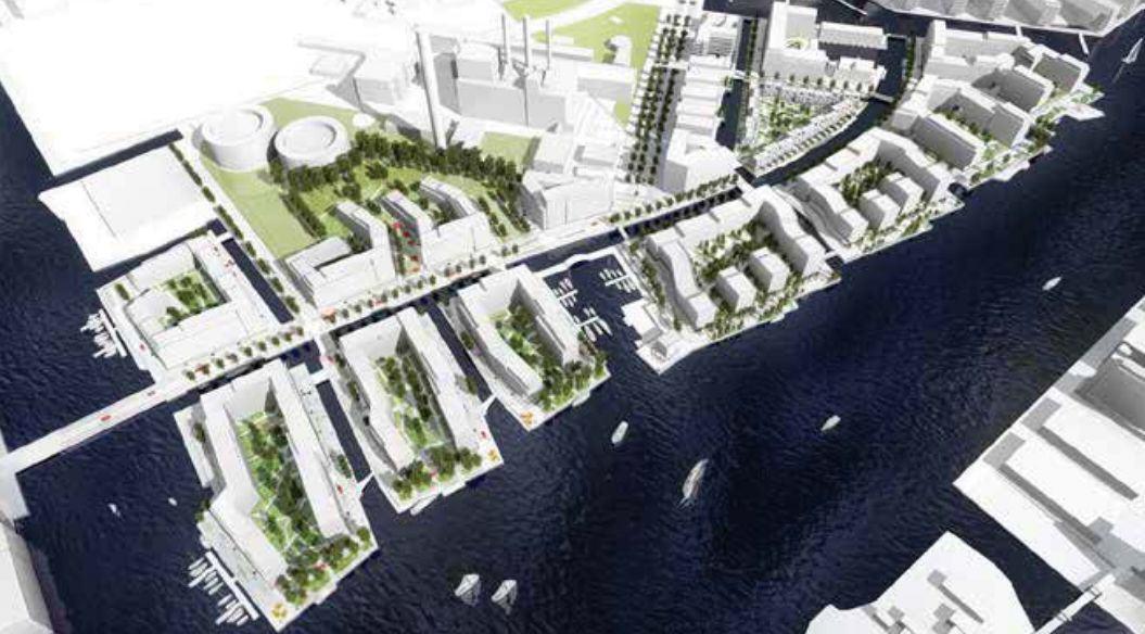 wizualizacja Enghave Brygge, Kopenhaga