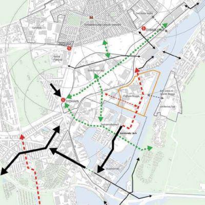 analiza transportowa Enghave Brygge, Kopenhaga