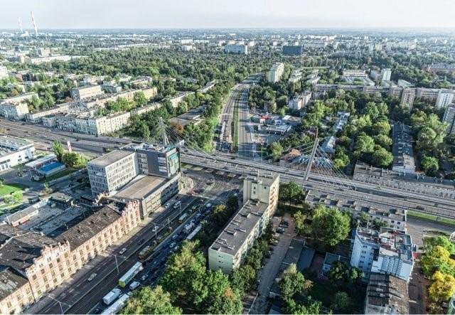 Wizualizacja wiaduktu nad skrzyżowaniem Marszalkow. Źródło radiolodz.pl