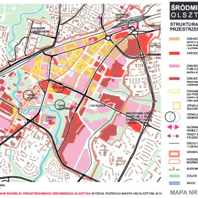 Zintegrowany Program Rozwoju Przestrzennego Srodmiescia Olsztyna mapa 4
