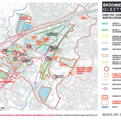 Zintegrowany Program Rozwoju Przestrzennego Srodmiescia Olsztyna mapa 5