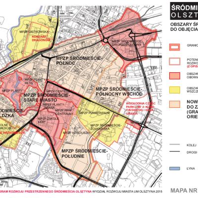 Zintegrowany Program Rozwoju Przestrzennego Srodmiescia Olsztyna mapa 6