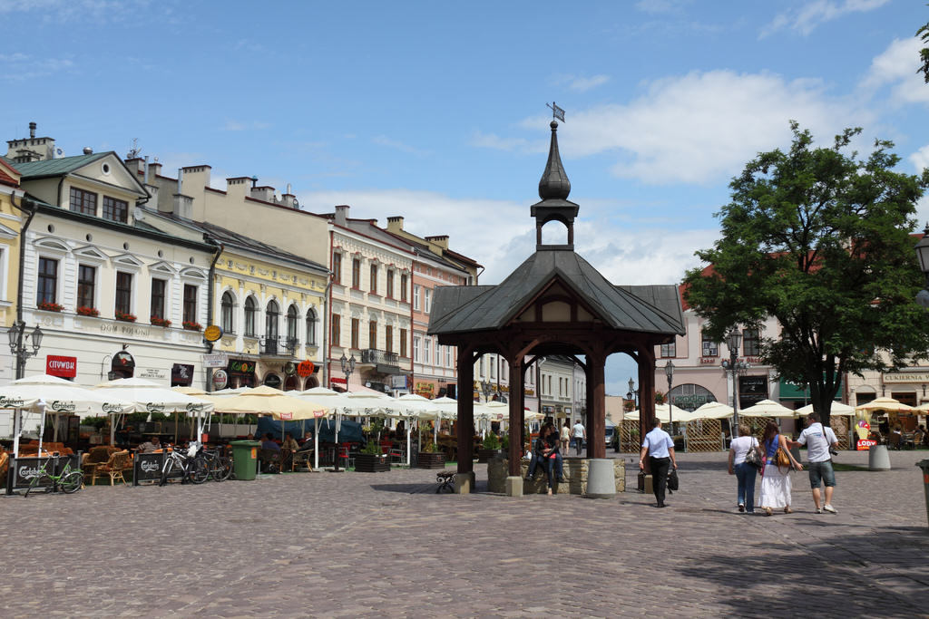 The market square in Rzeszow