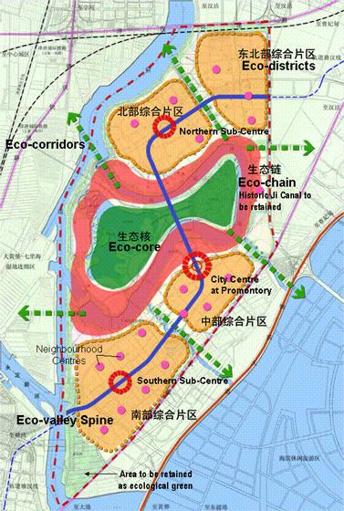 Masterplan Tianjin Eco City, źródło: Materiały inwestora