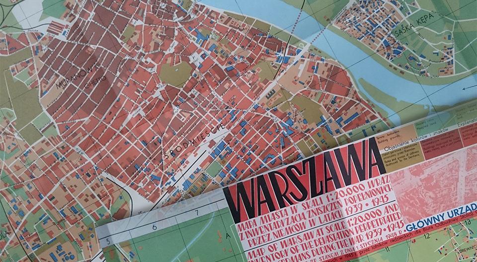Muzeum Warszawy Warszawa Mapa Miasta W Skali 1 20 000 Wraz Z