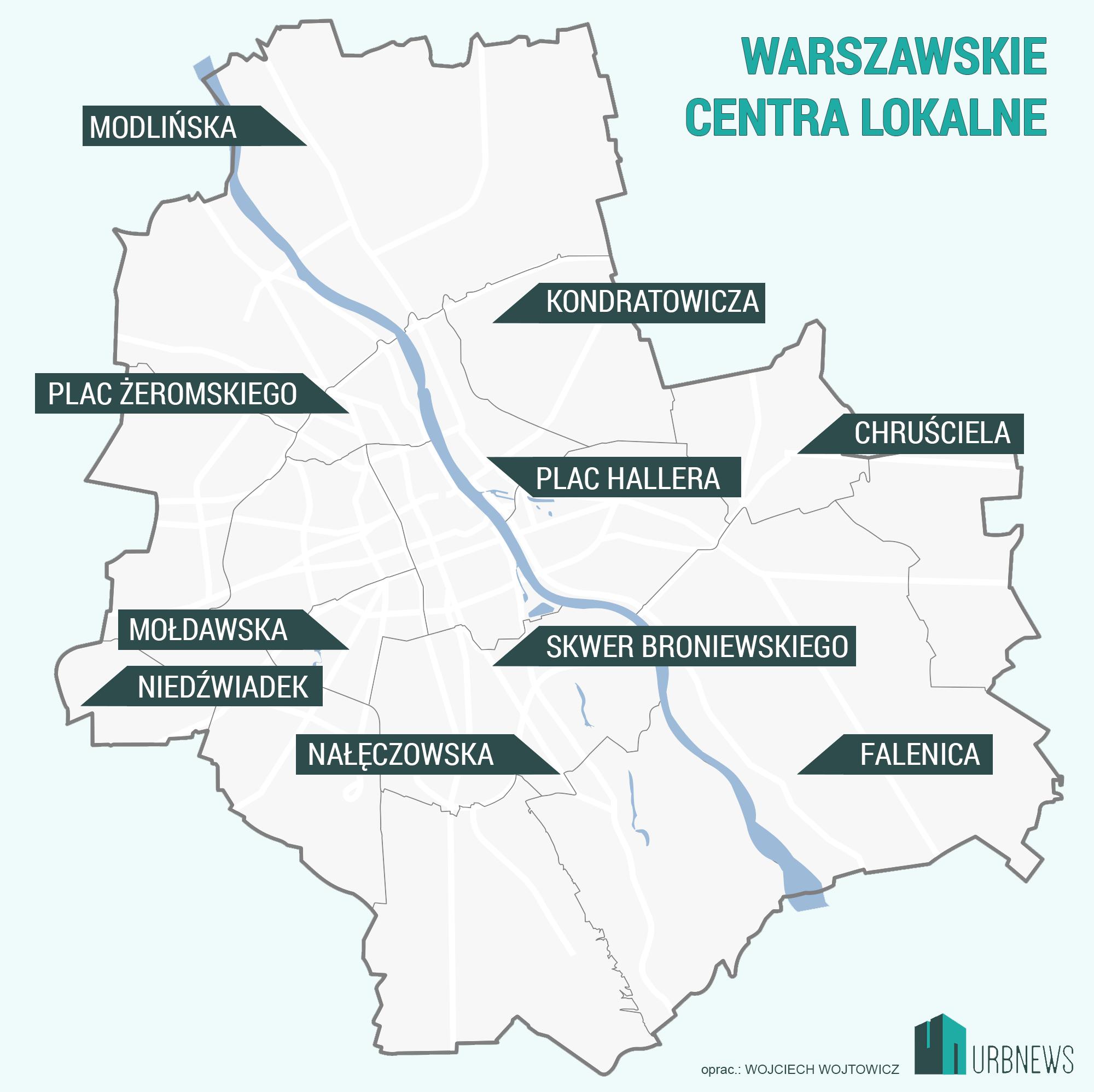 Warszawa mapa dzielnice