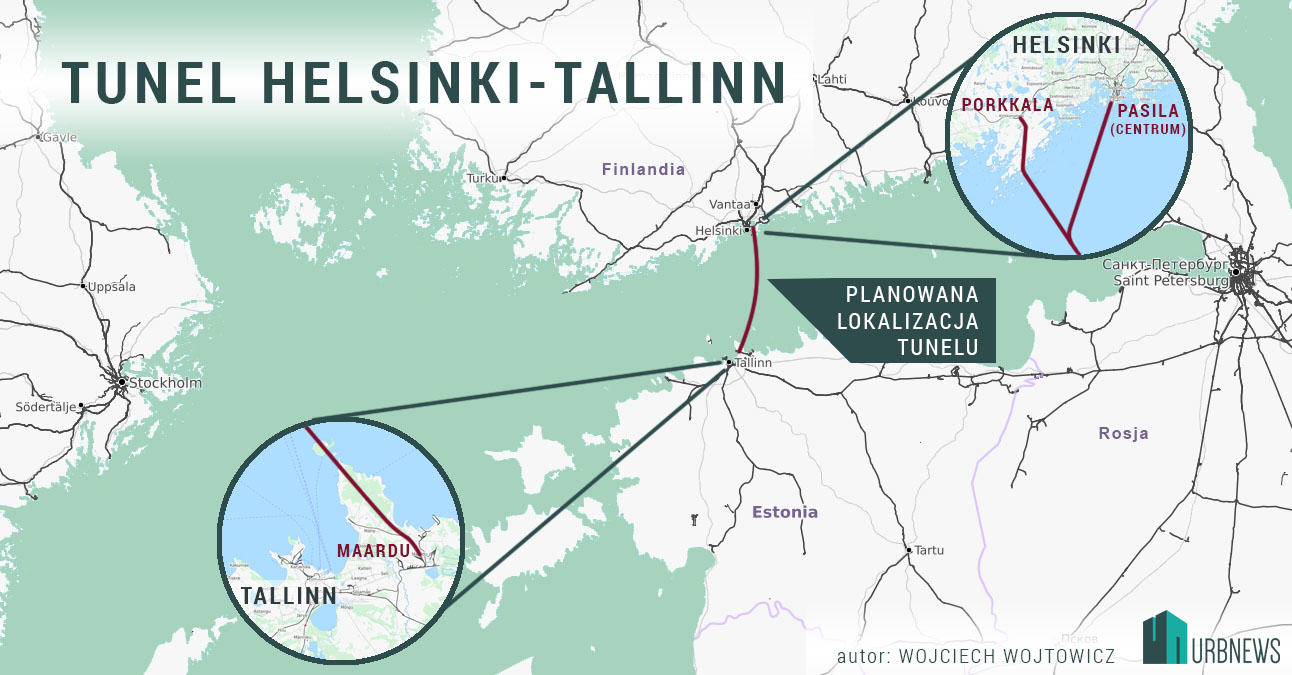 Helsinki Tallinn tunel Finlandia