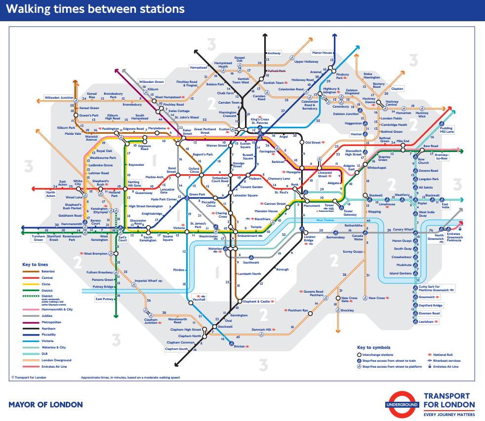 Londyn metro mapa