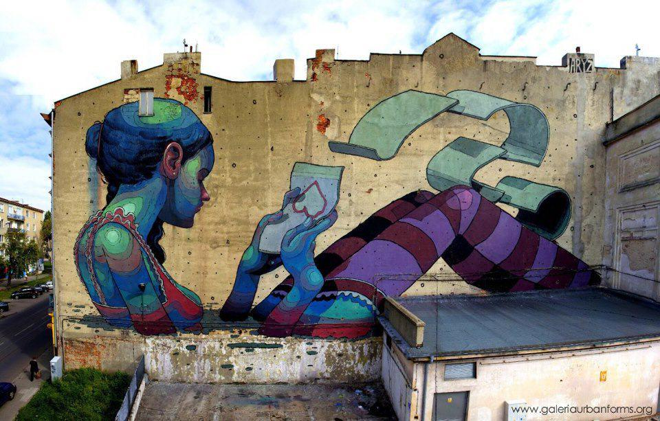 Łódź, mural na ul. Pomorskiej