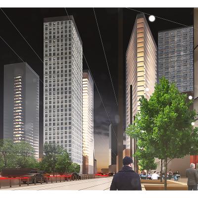 +48 architektura - Widok towarowej od Deawoo Tower