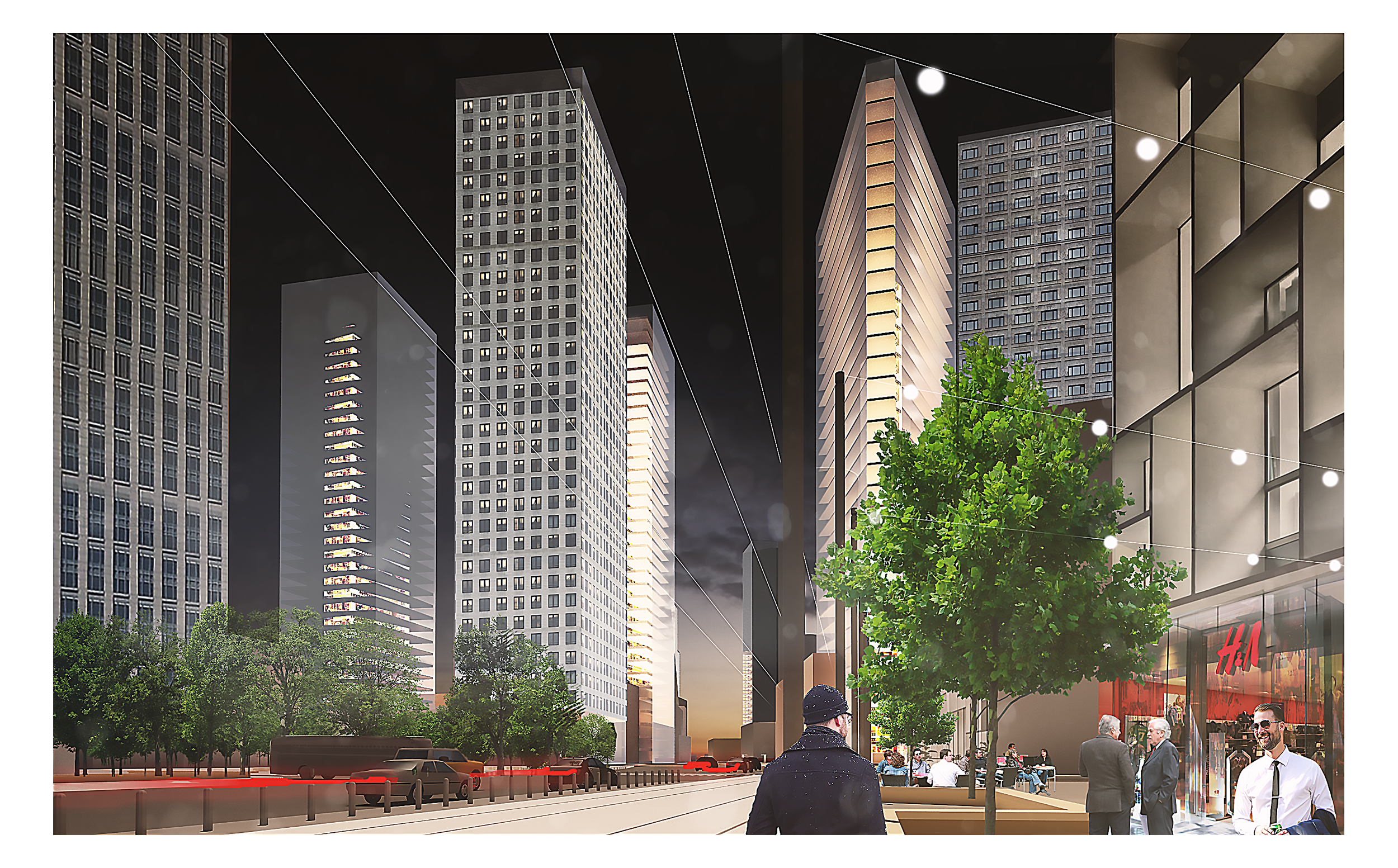 +48 architektura – Widok towarowej od Deawoo Tower