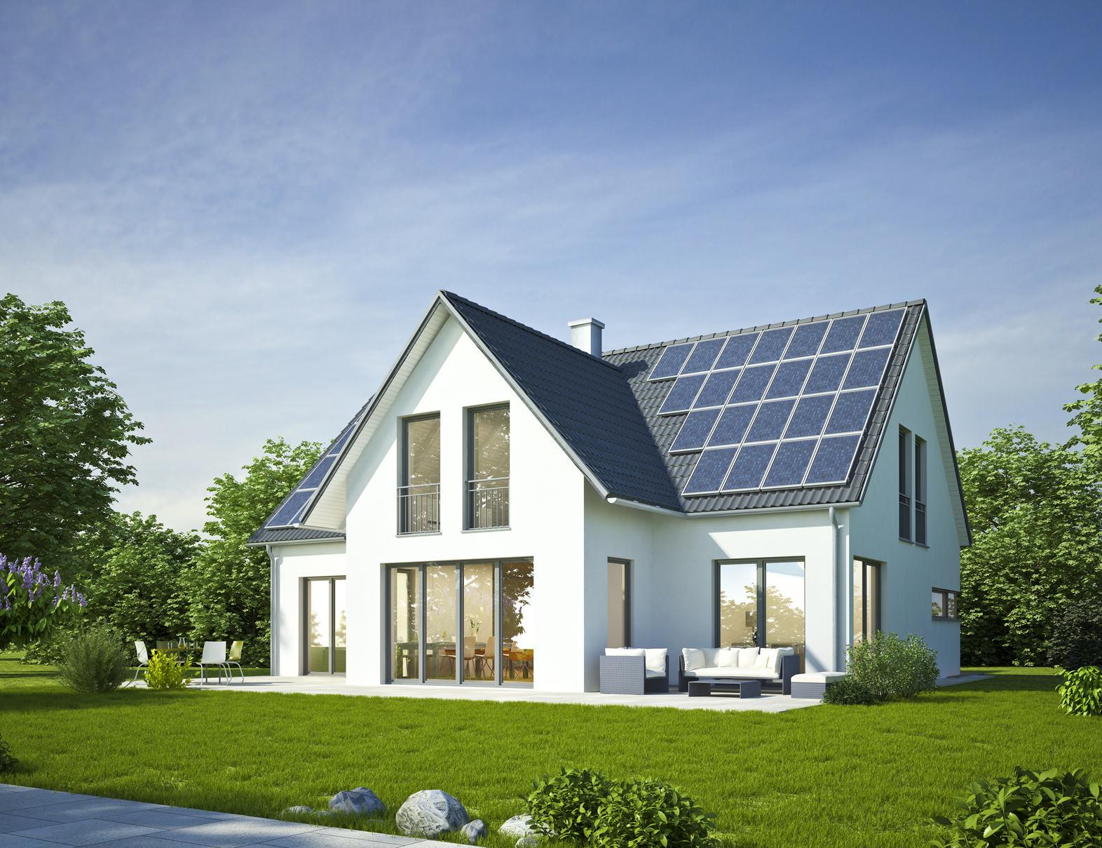 Haus Standard weiss mit Solar