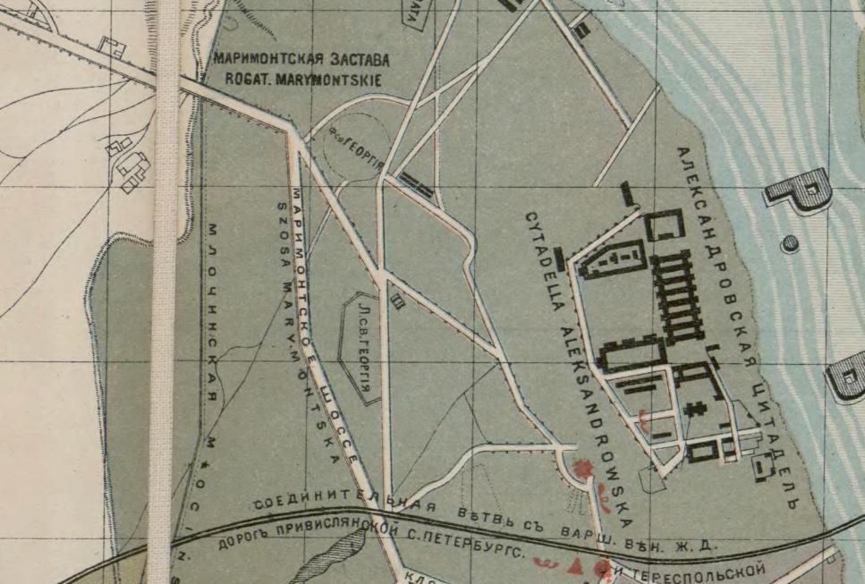 Wycinek z planu Warszawy z roku 1895, źródło: mapywig.org