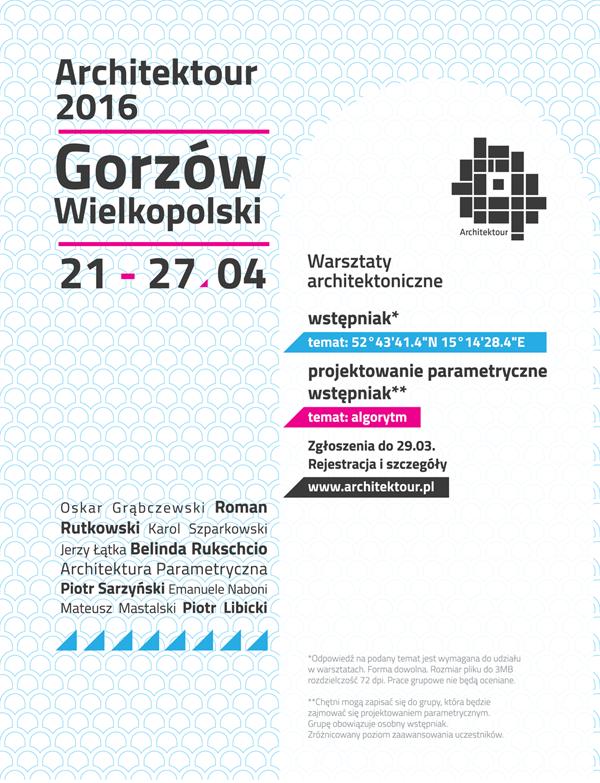 plakat architektour 2016
