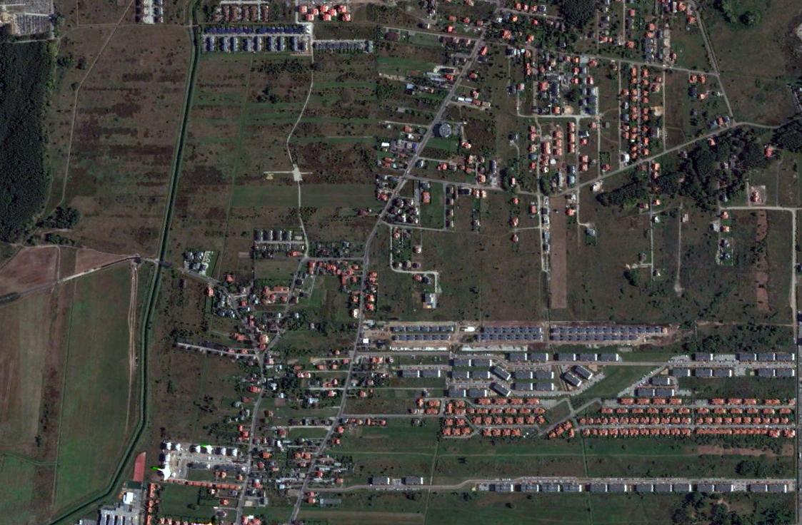 Suburbanizacja na przykładzie Warszawy | zdjęcie: Google Earth
