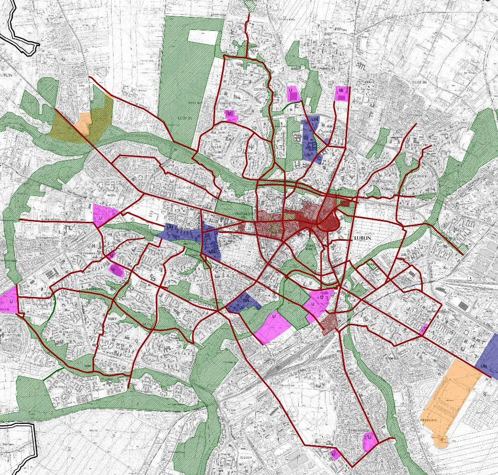 Lublin siec pieszych
