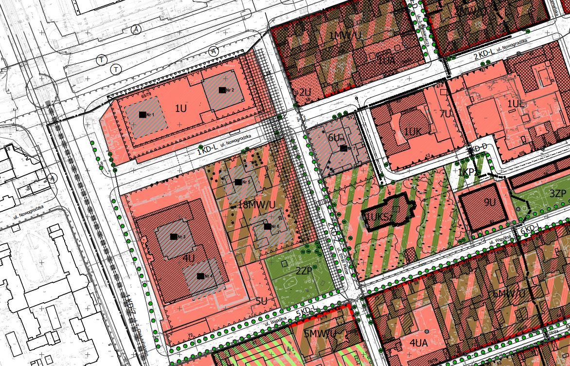 Najbardziej kontrowersyjny fragment planu dotyczył nowych budynków wysokościowych; źródło: wycinek z projektu MPZP dla Śródmieścia Południwoego