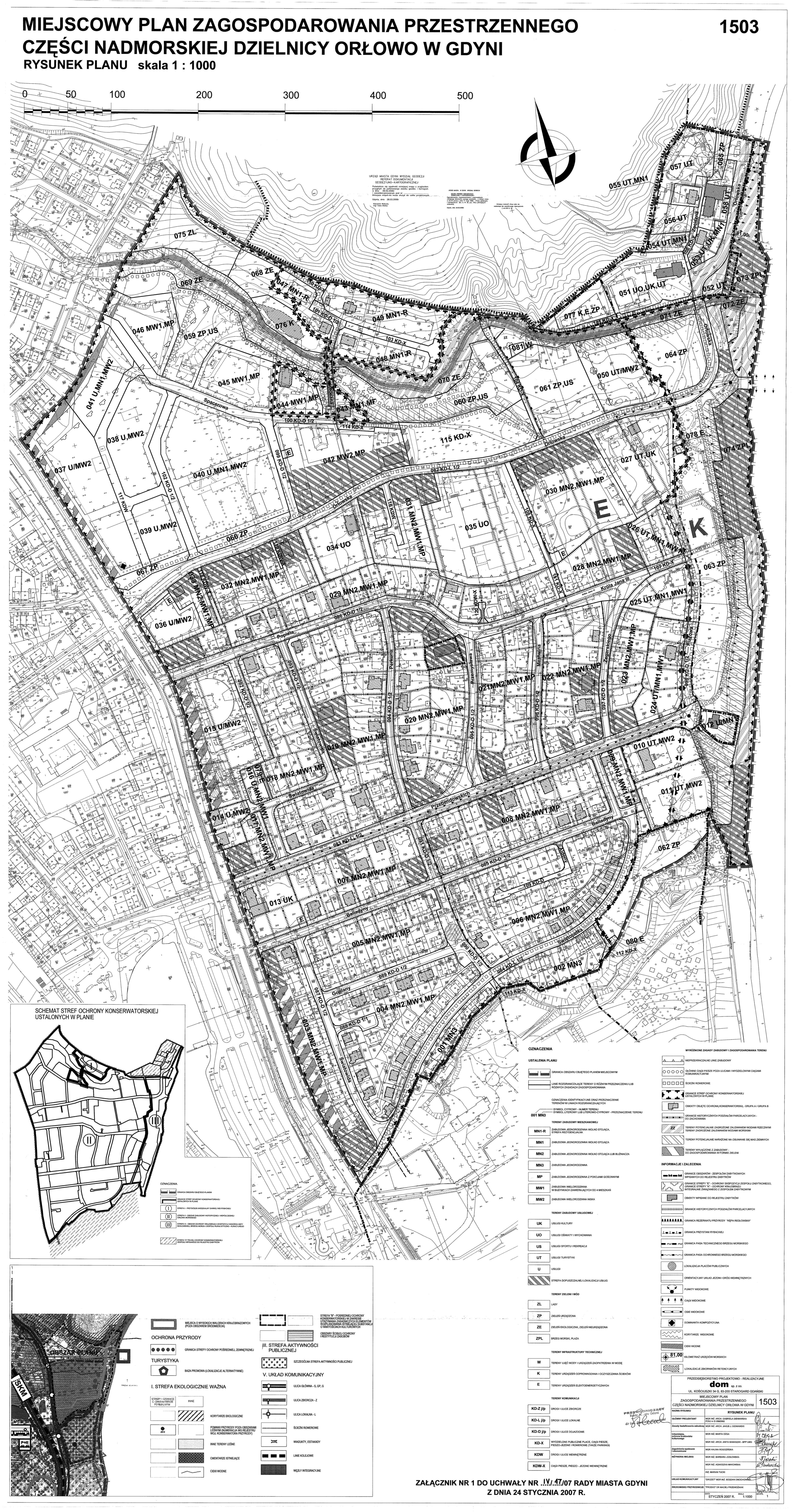 Plan zagospodarowania przestrzennego dzielnicy Orłowo w Gdyni z roku 2007 | UM Gdynia