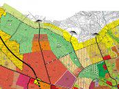Wyrys z obecnie obowiązującego studium uwarunkowań i kierunków zagospodarowania przestrzennego