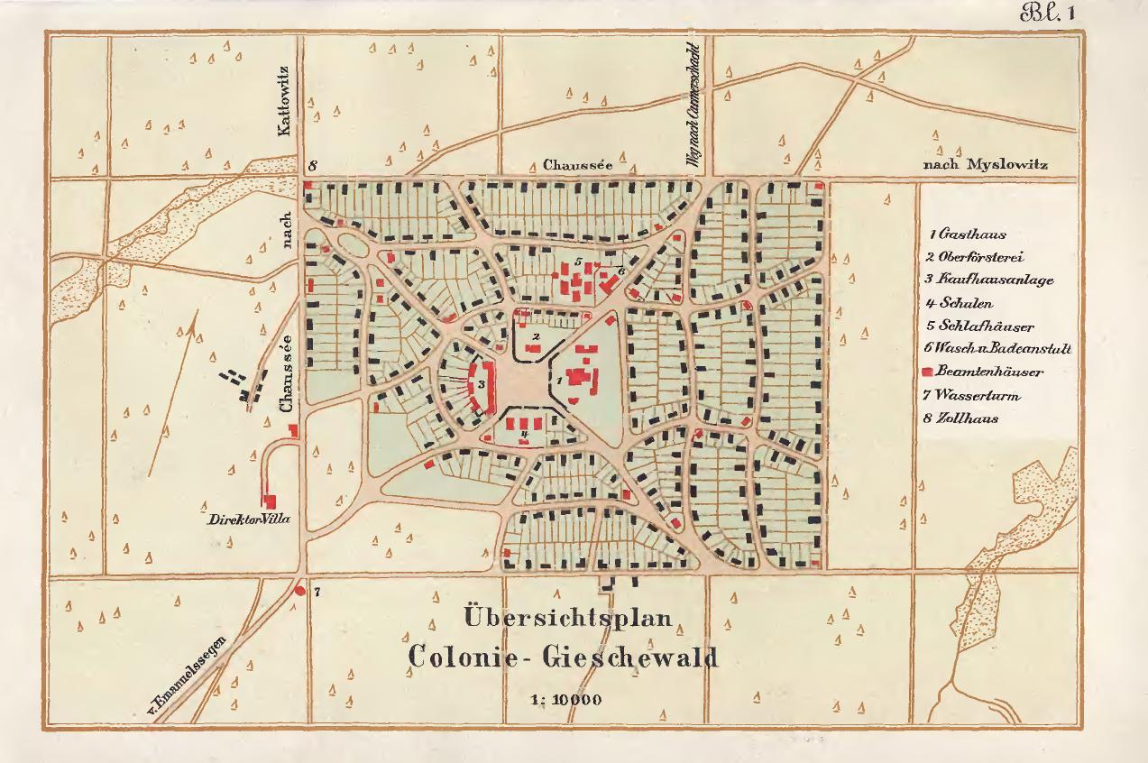 Giszowiec mapa