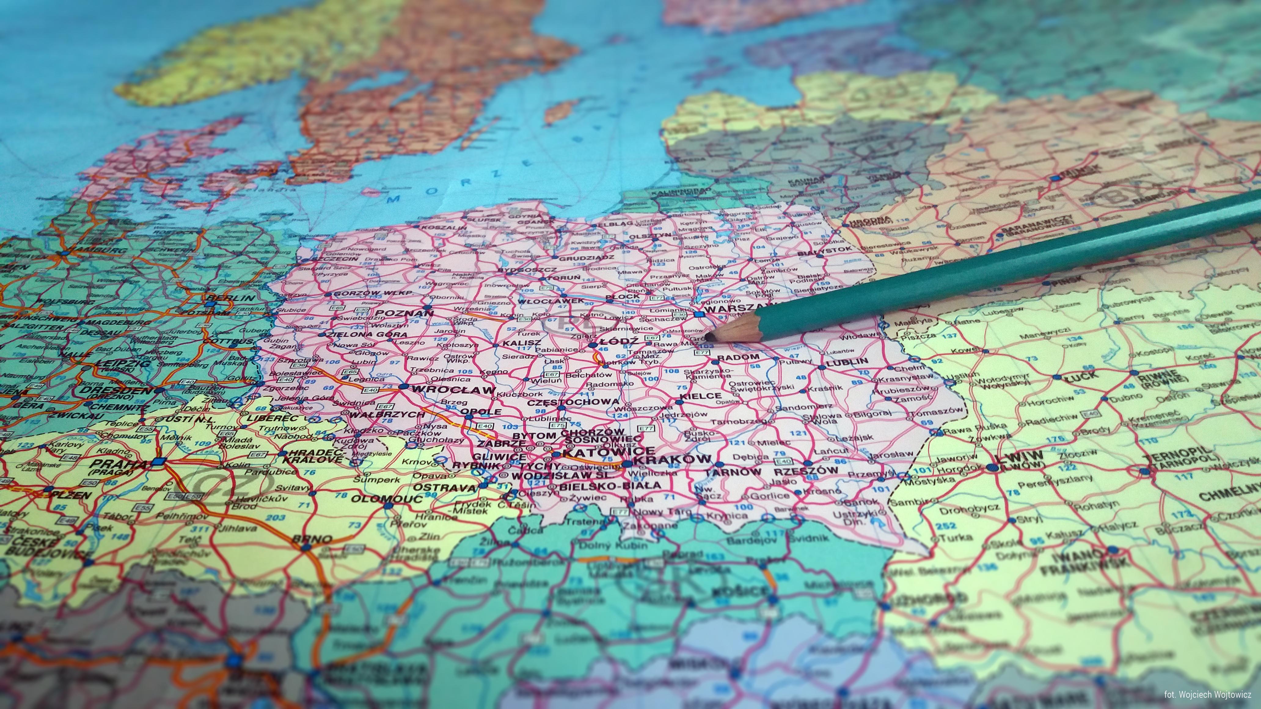Mapa Polska planowanie