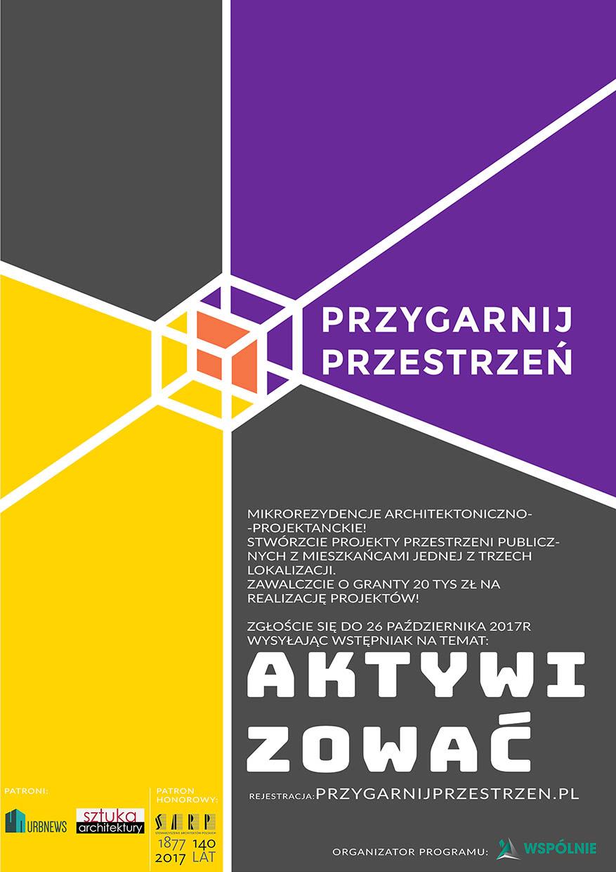 info plakat- Przygarnij Przestrzeń