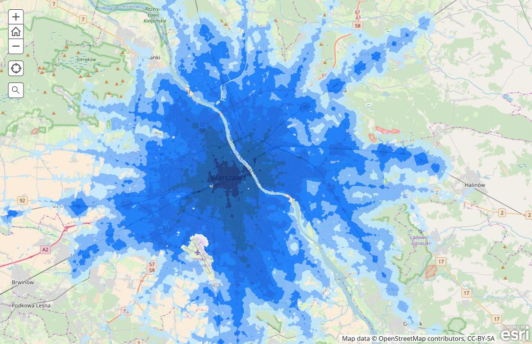 mapa_dostępności_transportu_zbiorowego_w_aglomeracji_warszawskiej