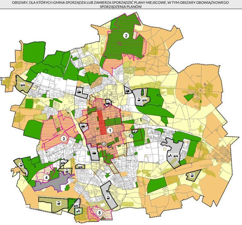 Łódź Studium 2018 Miejscowe plany