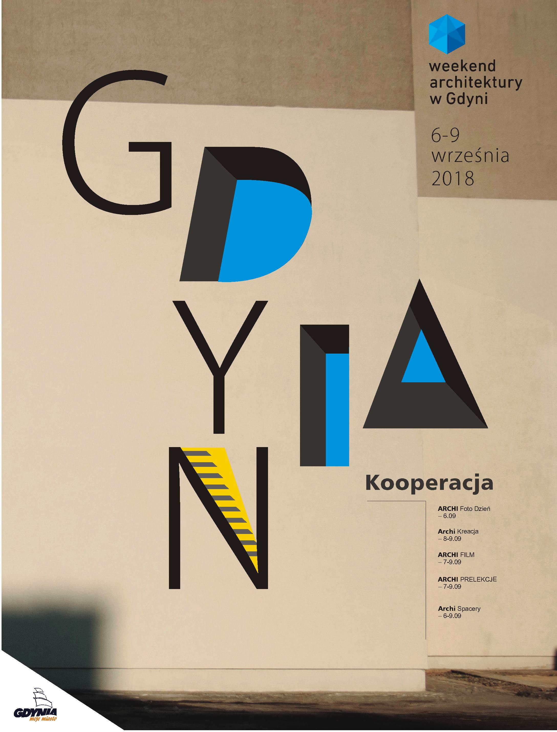 Plakat Grafika Weekend Architektury