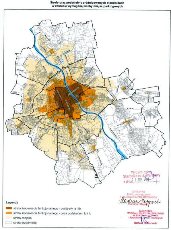 Strefy o zróżnicowanych standardach urbanistycznych w Warszawie