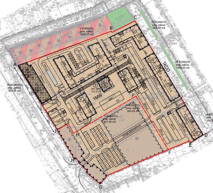 Wrocław Kolejowa Mieszkanie Plus wstępna koncepcja zabudowy BGKN
