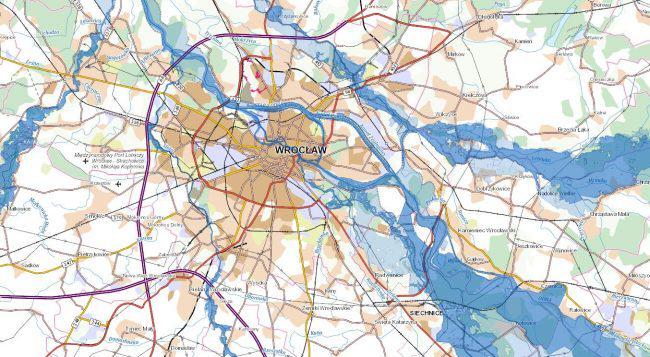 Mapy powodziowe w portalu geoportal