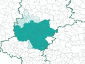 Mapa Górnośląsko-Zagłębiowska Metropolia