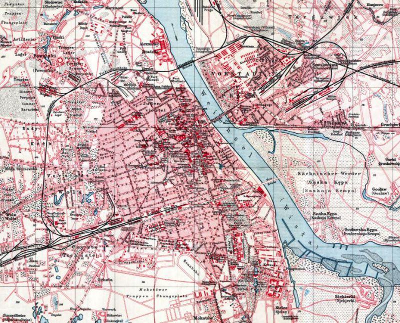 Plan Warszawy z 1915